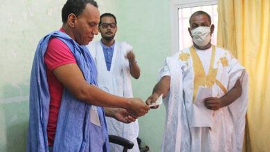 صورة بلدية توجنين تشرف على توزيع إعانات اجتماعية