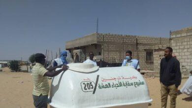 صورة بلدية توجنين توزّع خزانات لتوفير الماء في الأحياء الفقيرة